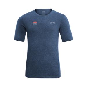 GORE Men\'s R3 Melange Shirt - Deep Water Blue